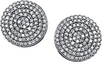 Sheryl Lowe 18mm Pave Diamond Disc Stud Earrings