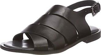 Halida, Chaussons Mules Femme, Noir (Nubuck Black), 40 EUShoe Biz