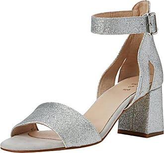 Zapatos plateado de punta abierta formales Shoe The Bear para mujer