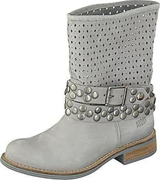 SHOOT Shoes Sommer Stiefelette SH-15000 Leder Boots in 5 Farben (38, Perla)