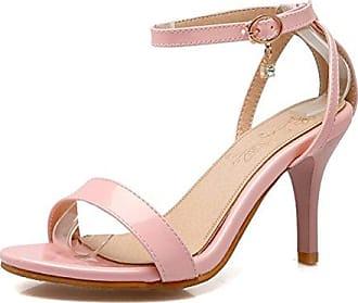 SHOWHOW Damen Sexy Spitz Zehe Cut Out Stilettos Pumps Sandalen Pink 35 EU