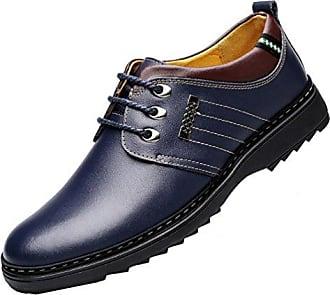 SHOWHOW Herren Offiziell Derby Schnürhalbschuhe Anzugschuhe Blau 38 EU