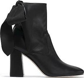Sigerson Morrison Woman Ruched Velvet Ankle Boots Silver Size 9.5 Sigerson Morrison