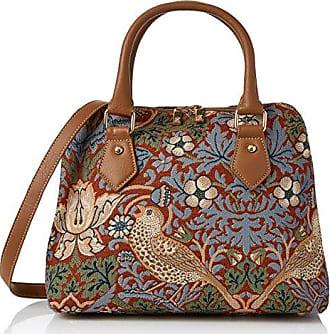 Frauen Modische Tragetasche Damenhandtasche Einkaufstasche Umhängetasche Tapisserie Schultertasche/Strawberry Thief Blue William Morris COLL-STBL SIGNARE