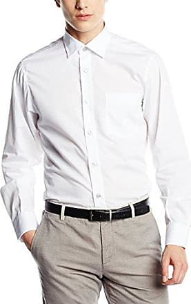 1/2 Basic, Camisa para Hombre, Blanco (Optical White), Tamaño del Collar: 44 cm (Talla del Fabricante: Large) Signum