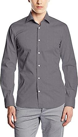 Camisa slim fit de manga larga para hombre, talla XL, color gris (stone grey 915) Signum
