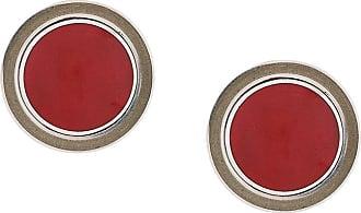 Silhouette oval earrings - Red