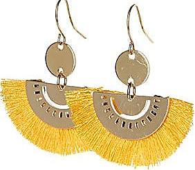 Simons Fringed half-moon earrings