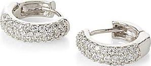 Simons Glittering hoop earrings