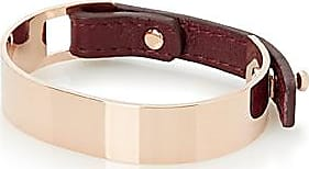 Simons Leather and metal cuff bracelet