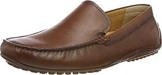 Sioux Cosetta 54892 - Mocasines de cuero para mujer, color Marrón (Braun Cognac), talla 42.5