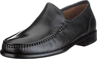 Rombah Wallace 8250 - Mocasines de cuero para hombre, color negro, talla 43