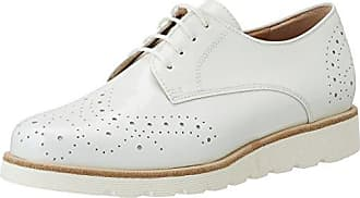 Be Natural 23740, Zapatos de Cordones Brogue Para Mujer, Blanco (White), 39 EU