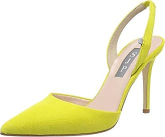 Young At Heart Peep Toes, Zapatos de Tacón con Punta Abierta para Mujer, Amarillo (Lemon a), 41 EU Joe Browns