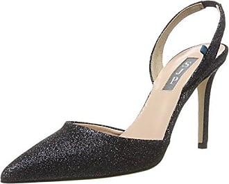 Bliss 90, Zapatos de Talón Abierto para Mujer, Negro (Black Pixie Fine Perf), 35 EU SJP by Sarah Jessica Parker