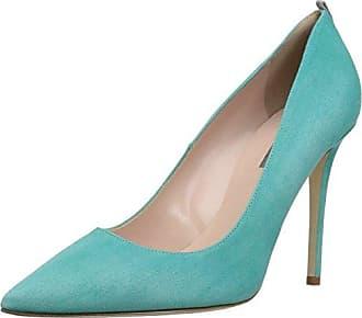 NOE Antwerp Nirma, Zapatos de Tacón con Punta Cerrada para Mujer, Azul (Teal 326), 37.5 EU