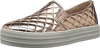 Skechers Double Up-Duvet, Zapatillas Sin Cordones para Mujer, Plateado (Silver), 37 EU