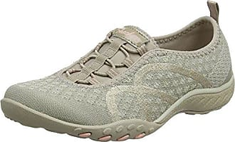 Skechers Breathe Easy-Fortune Knit, Zapatillas Para Mujer, Beige (Taupe), 35 EU