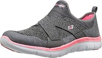 Skechers Damen Go Walk 4-Glorify Sneakers, Black/Grey Heather, 39.5 EU