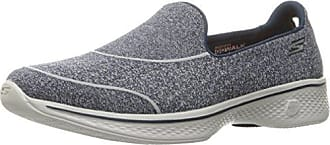 Skechers Gowalk 4-Super Sock 4, Zapatillas para Mujer, Azul (Nvy), 35 EU