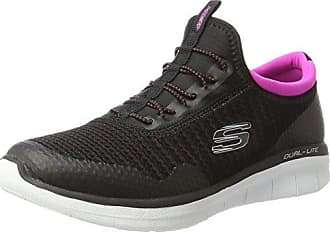 Skechers Go Walk Lite-Impulse, Zapatillas para Mujer, Negro (Black/White), 40 EU