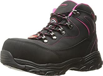 Skechers Womens D Lite Amasa Work Boot,Black,8 M US