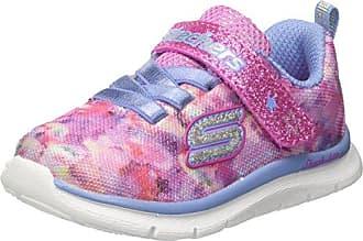 Skechers Go Walk, Sneaker Bimba, Multicolore (Lavender/Multicolour), 22 EU