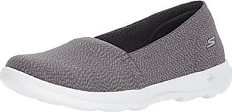 Skechers Go Walk Lite-Smitten, Zapatillas sin Cordones para Mujer, Negro (Black/Grey), 40 EU
