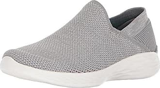 Skechers You-Rise, Zapatillas Sin Cordones Para Mujer, Negro (Black/White), 37.5 EU