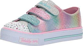 Skechers Omne-Lil' Star Side, Zapatillas para Niñas, Varios Colores (Silver/Multicolour), 27.5 EU