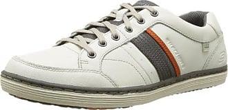 Nat-2 SASH SASH M - Zapatillas fashion de cuero para hombre, color blanco, talla 45