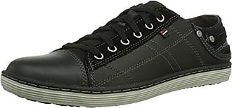 Bikers-Dream-Come-True, Formatori Donna, Nero (Noir/Gris), 38.5 EU Skechers