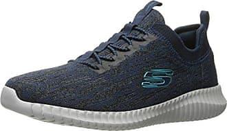 Skechers Elite Flex-Attard, Zapatillas para Hombre, Azul (Navy/Orange), 47.5 EU