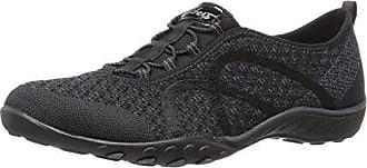 Skechers Damen Breathe Easy-Fortune Knit Sneaker, Schwarz (Black), 37.5 EU