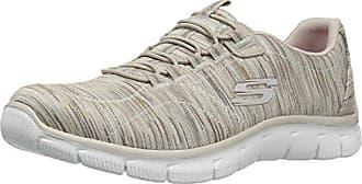 Skechers Bobs Swift-Social Hustle, Zapatillas Para Mujer, Plateado (Silver), 35 EU