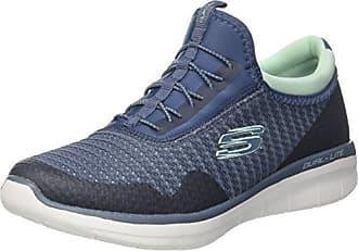 Skechers Double Up-Duvet, Zapatillas Sin Cordones Para Mujer, Plateado (Silver), 35 EU