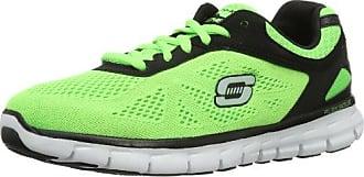 Synergy Power Shield, Chaussures de sports en salle homme - Vert (Lmbk), 45 EU (10 UK) (11 US)Skechers