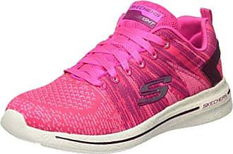 Skechers Synergy 2.0-High Spirits, Zapatillas para Mujer, Varios Colores (Hot Pink/Multicolour), 35 EU