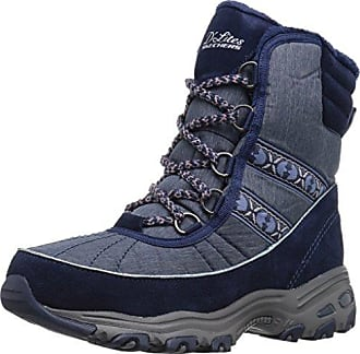 Skechers Women's Halo-Glory-Space Dyed Winter Boot, Black/Charcoal, 8.5 M US