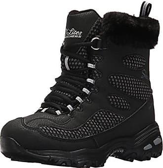 Skechers Womens DLites Winter Boot,Black,6.5 M US