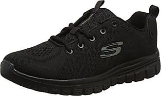 Skechers Damen Graceful-Get Connected Sneaker  38.5 EUSchwarz (Black/White)