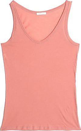 Skin Woman Cotton-jersey Pajama Top Peach Size L Skin