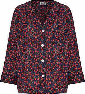 Sleepy Jones Woman Floral-print Cotton Pajama Shirt Red Size M Sleepy Jones