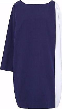 Sleepy Jones Woman Two-tone Cotton Nightdress Navy Size S Sleepy Jones