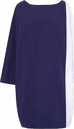 Sleepy Jones Woman Two-tone Cotton Nightdress Navy Size L Sleepy Jones