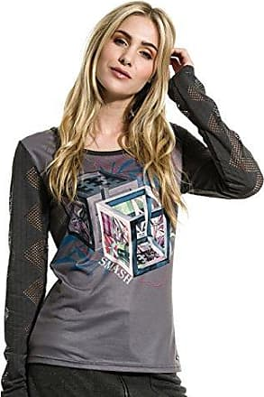 smash Girasol, Camiseta para Mujer, Naranja (Coral), Medium (Tamaño del Fabricante:M)