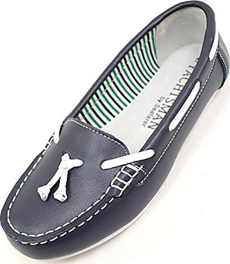 Damen/Damen Leder Smart/Casual/Sommer-Schuhe, Blau - Navy - Größe: 40.5