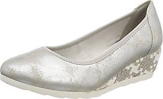 Softline 23763, Zapatillas para Mujer, Plateado (White/Silver), 39 EU