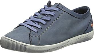Softinos ICA388SOF Smooth/Suede, Zapatillas para Mujer, Blau (Navy/Dk.Grey), 39 EU