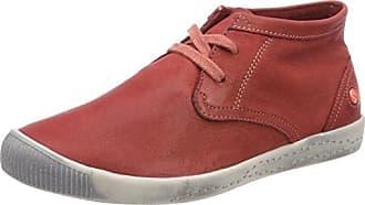 softinos Indira Washed, Baskets Hautes Femme, Rot (Red), 43 EU